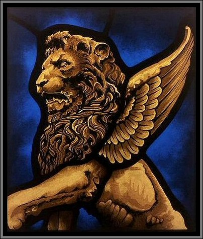 Winged Lion Stained Glass Stained Glass Artists Designers