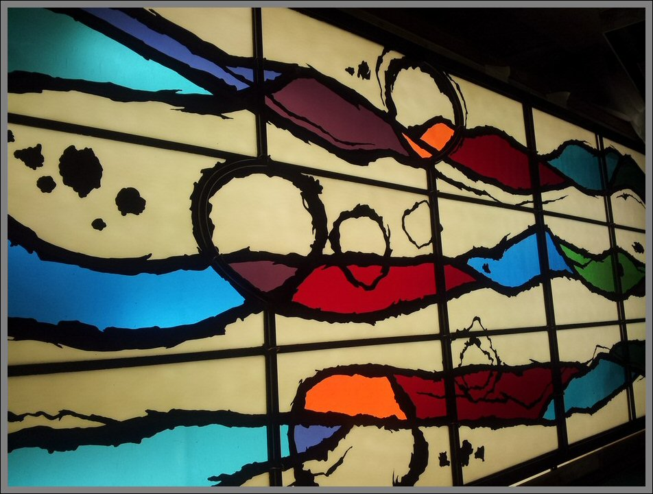 Contemporary stained glass commission for ilkley residence for Contemporary stained glass