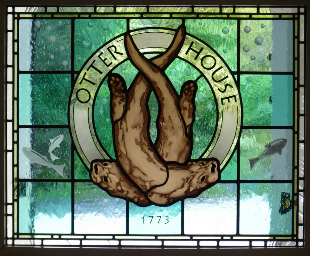 Otter House Stained Glass Door Panel Stained Glass