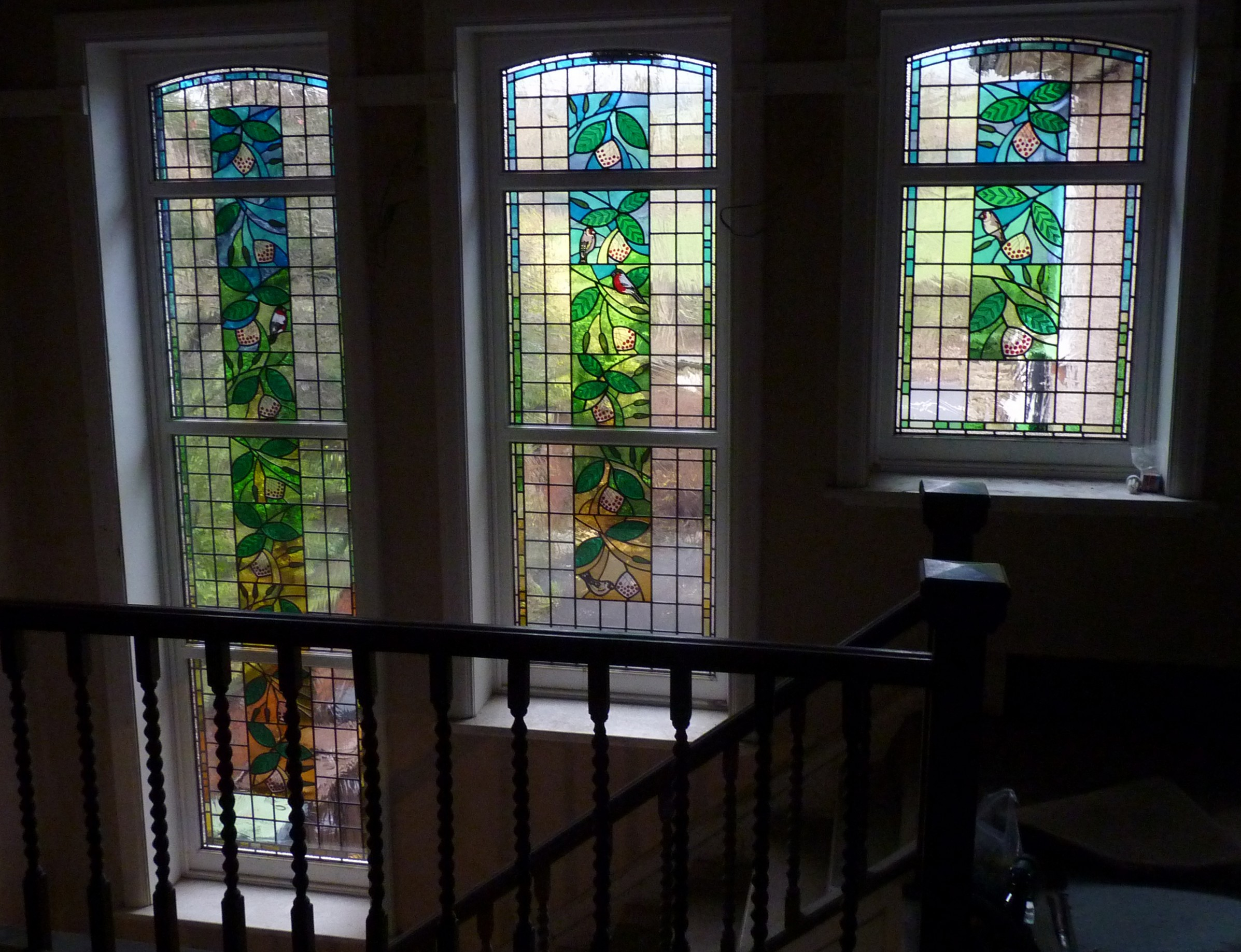 New stained glass window floods light and colour into 1920 for 1920s window