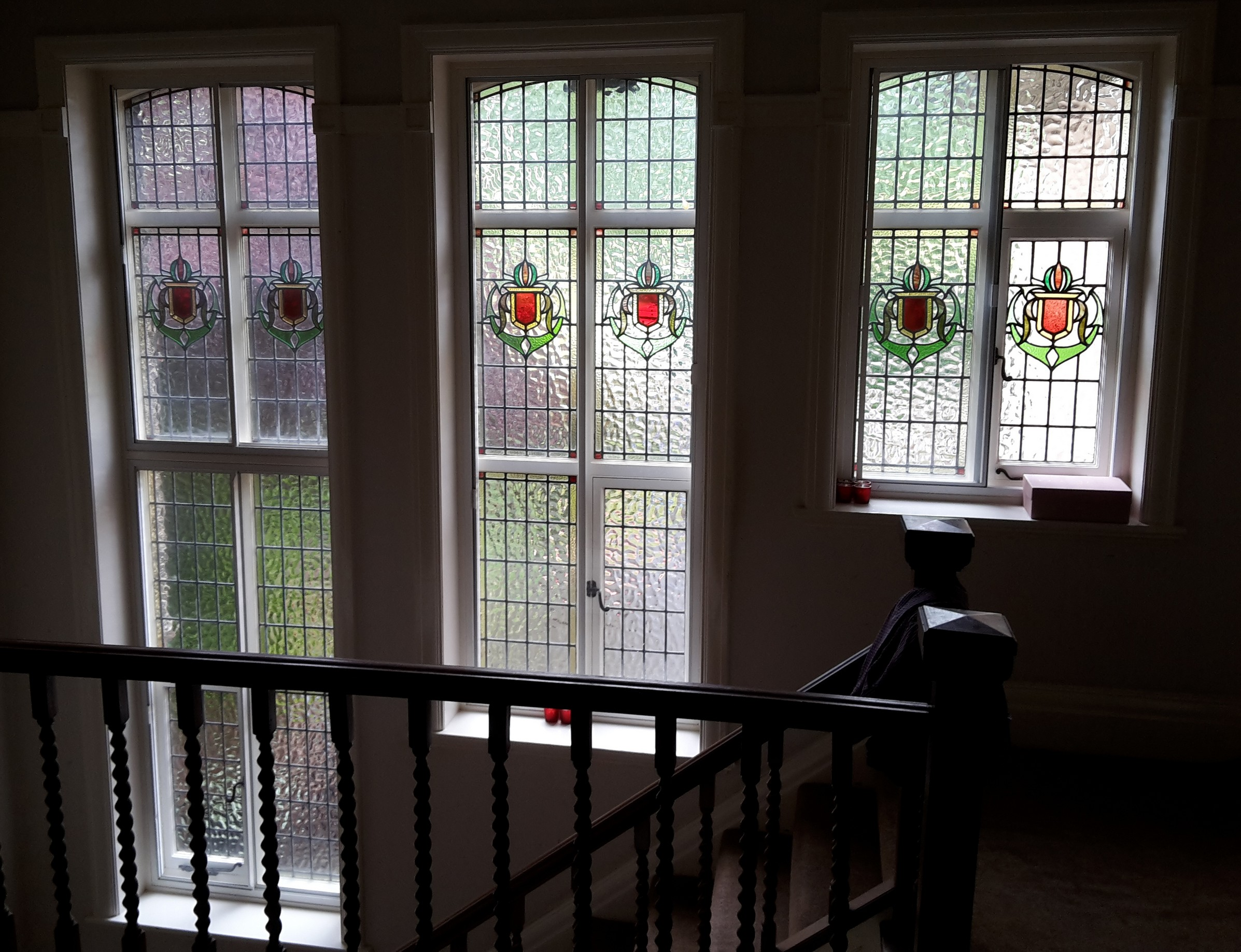 Design Window: 1920's Staircase Window