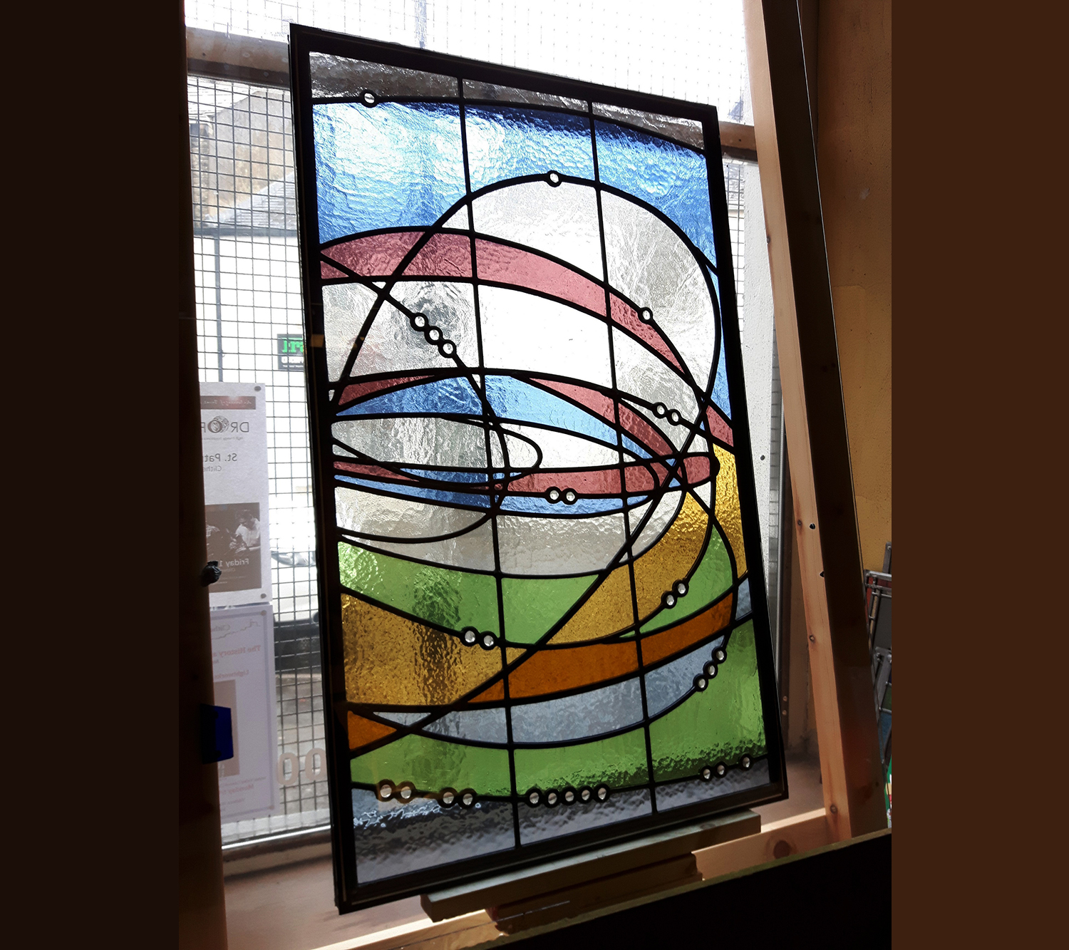Leaded Glass Door Panel Stained Glass Artists Designers